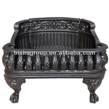 Europe style wrought iron fireplace grate (BF10-M478)