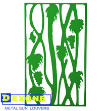 Custom decorative metal laser cut panels as outdoor garden screen