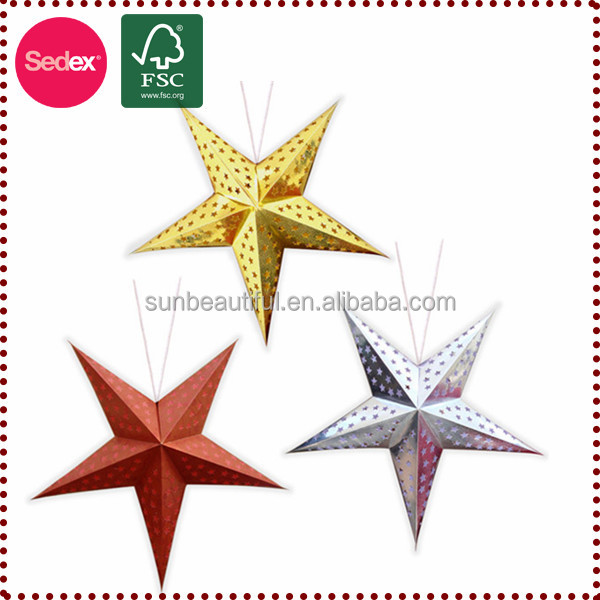 2017 popular item lucky star paper for decoration
