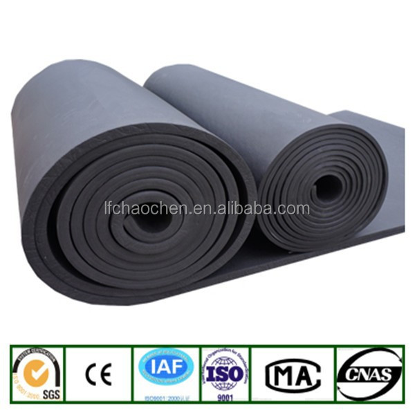 Thermal insulation material closed cell rubber foam elastomeric insulation material for construction