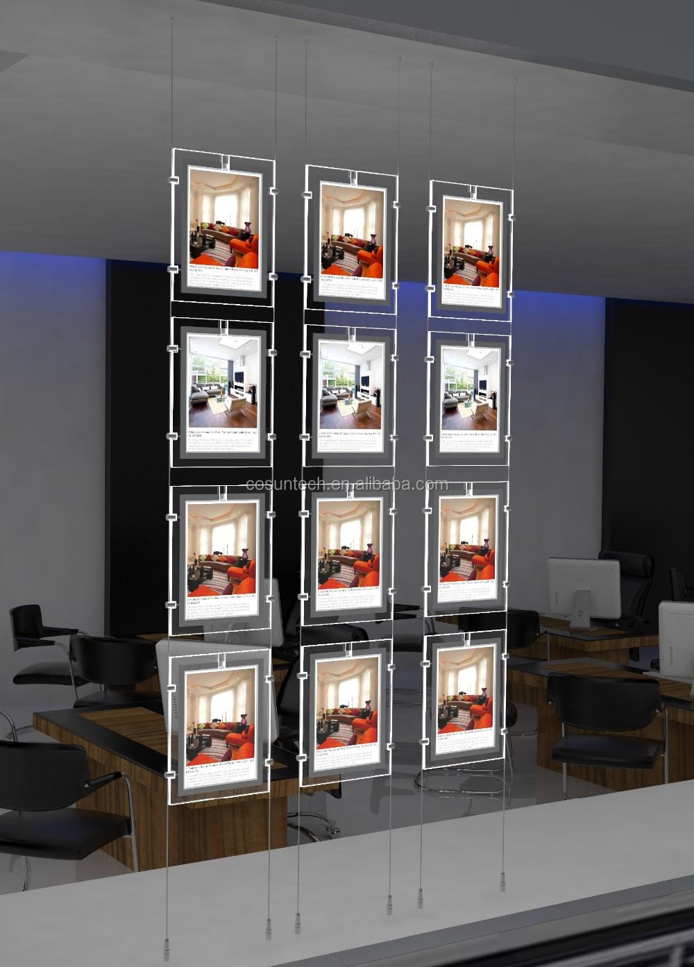 Acrylic Light Box Display : Led a portrait acrylic crystal light pockets for real