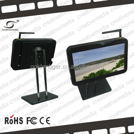 7inch wireless 3G commercial LCD Bus Advertising multi touch screen with Roof Fixing wireless taxi/bus/car media display