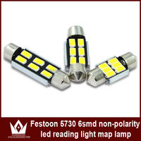 festoon LED Light 42mm Warm White 5730 6 SMD LED Car Dome Reading Interior Light Bulbs Auto Car NO ERROR LED Roof Car Light