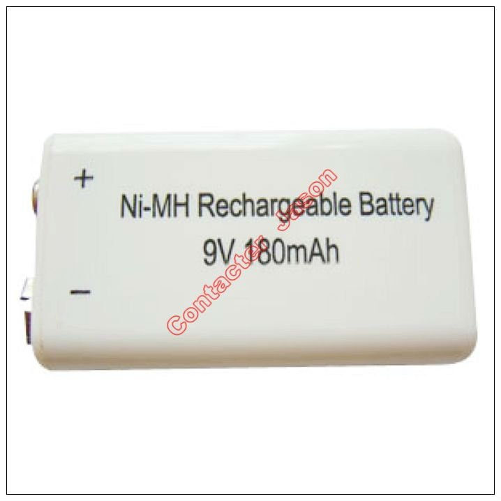 NiMH Rechargeable Consumer Battery (180H 9V)