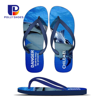 Custom Non-Slip Comfortable Rubber PE Slim Men Beach Sandals Flip Flop