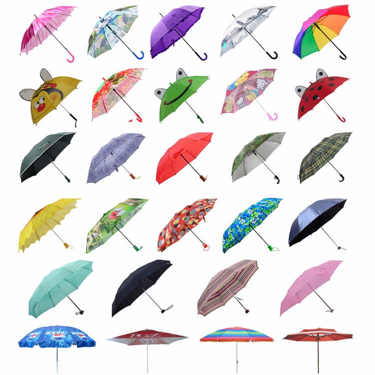 ISO9001 Factory Custom Logo Cheap Price different kinds of umbrellas