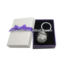 High Quality Lower Price Gemstone Howlite Stone Metal Lantern Key Chain