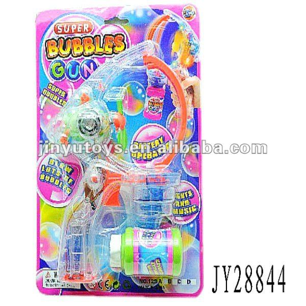 Outdoor toys big size battery flashing soap bubble gun