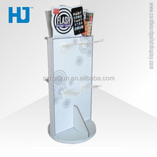 Hook Cardboard Display Stand, POP Display Rack With Hooks for Cell Phone Acessories