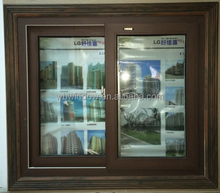 Energy efficient color frame aluminum sliding window design