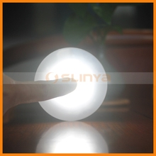 Manual Operation LED Push On/Off Plastic Round Shade Tap Night Light For Bedroom