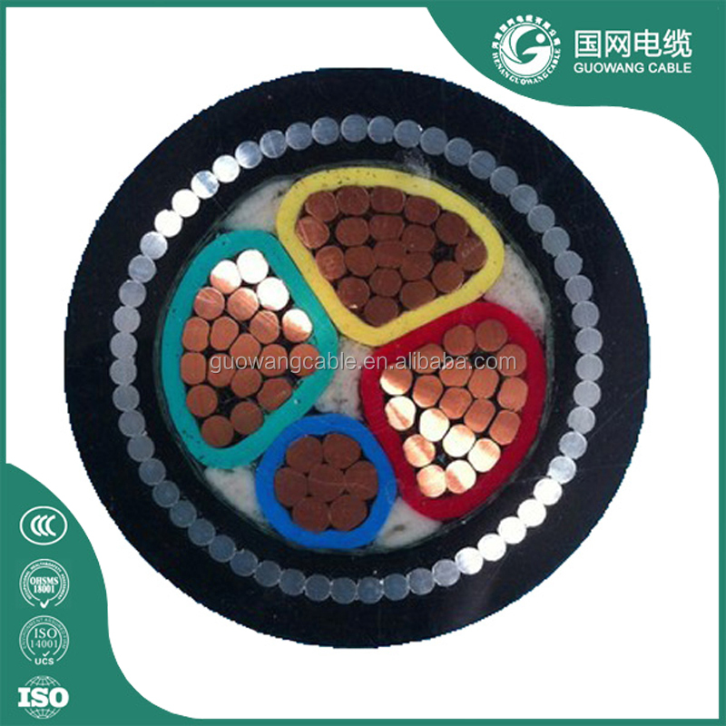 0.6/1kv Solid Conductor Cu/XLPE/Sta/Pvc Power Cable 2 Core 3 Core 4 Core Water Resistant