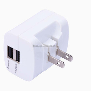 2 port folding usb wall charger adapter foldable US plug Travel charger