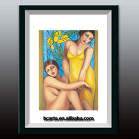 ladies womens girls hot sex images photo on canvas framed