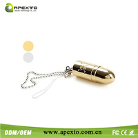 Sliver and Gold bullet usb flash drive for nice promotion gift