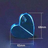 25ml Love heart shape portable glass perfume bottles with spray cap