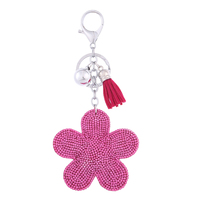 Hot Sell Flower Shaped Custom Keychain 3D Key Ring Keys