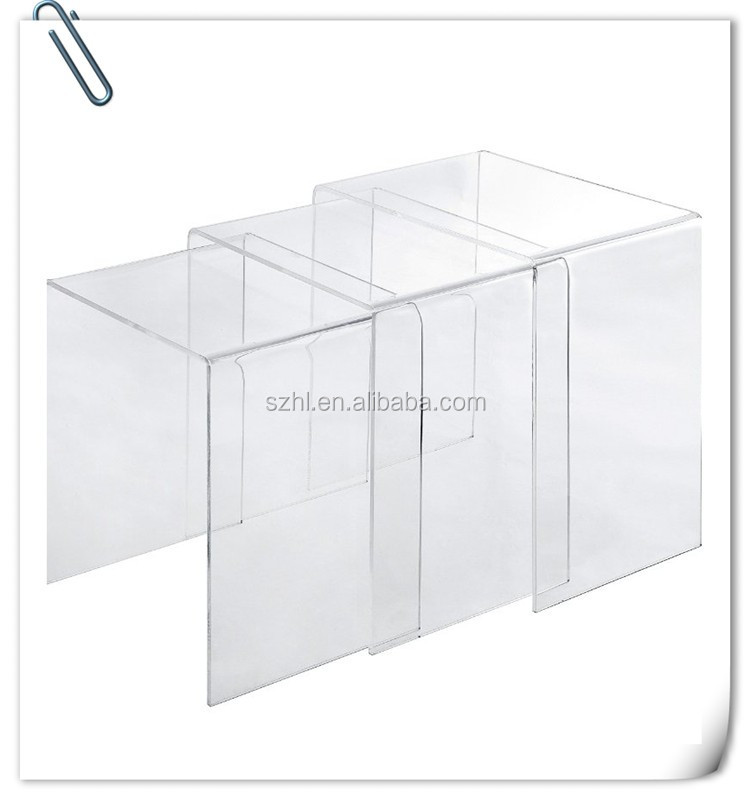 acrylic material crystal clear acrylic coffee table