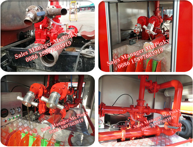 Dongfeng 5Tons Fire Water Truck With Fire Pump and Fire Monitor For Sales