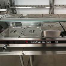 restaurant stainless steel food warmer display counter