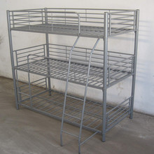 Antique style wholesale dormitory pull out trio bunk bed