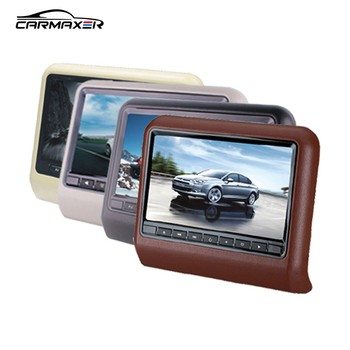 9/10/11.6inch car headrest dvd & slave monitor with wireless native 32 games dvd