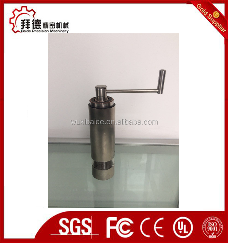 Hand crank cordless stainless steel coffee grinder machine