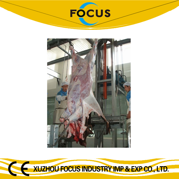 halal slaughtering equipment for cattle cow beef pig sheep goat hydraulic type skin removed machine