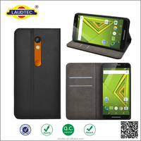 2015 New Arrival! magnetic wallet leather Case for Motorola Moto X Play