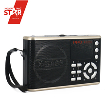 Powerful black FM mini radio receiver, FM radio with earphone and shower