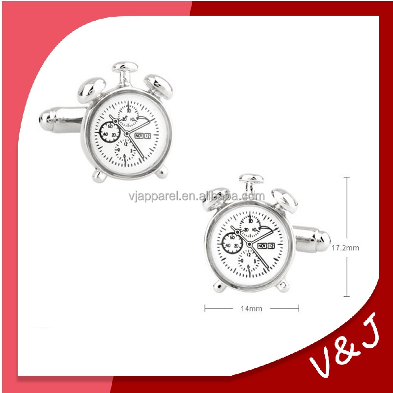 Classic Alarm Clock Cufflinks Watch Movement Cufflinks