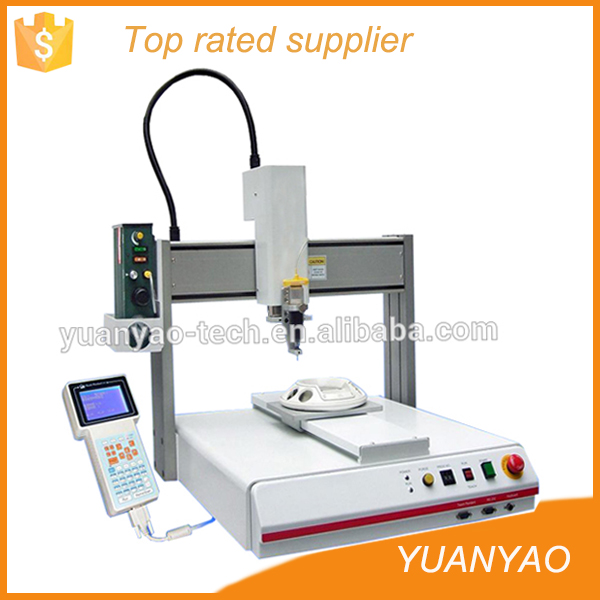 3 axis glue epoxy dispenser robot with Alibaba marking