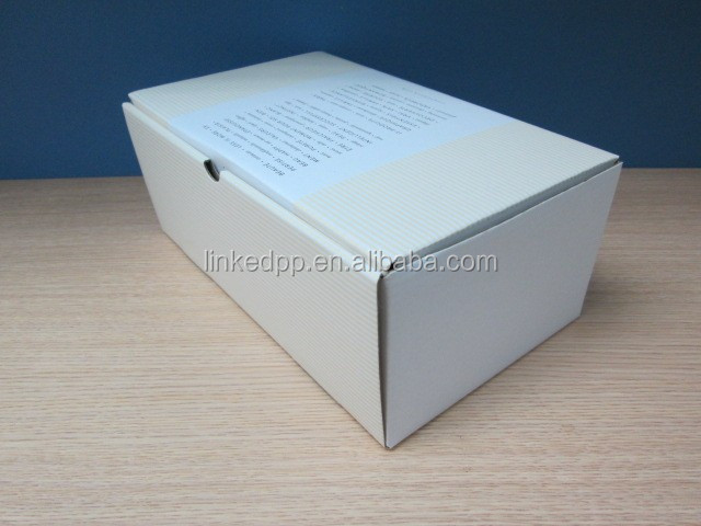Customized corrugated mailer box - white board with E-flute material