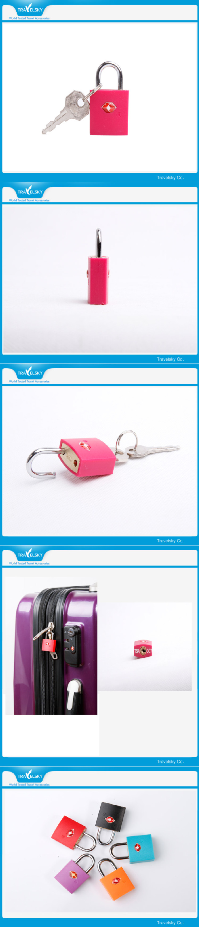 Travel Mini Luggage Safety Brass Padlock