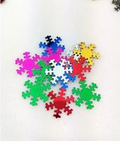 Christmas Decorations Snowflake Sequin For Crafts&Paillette Sewing Scrapbooking Beads 18mm high quality pvc sequin