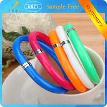 2015 top selling products Cute Soft Plastic Bangle Bracelet Wristlet Circlet Flexible Ball Pens