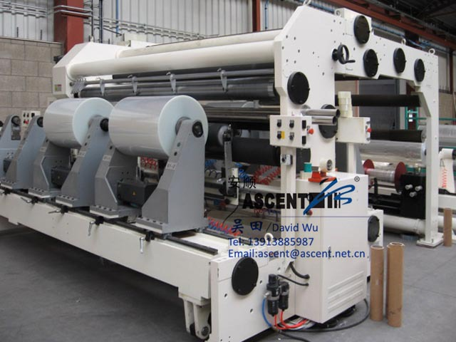 jumbo roll Slitting machine for BOPP BOPET CPP film
