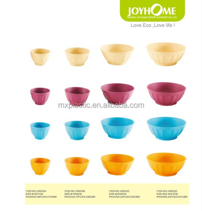 Wholesale assorted color plant fiber plastic soup bowl