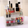 Transparent withdrawable type acrylic cosmetic storage box