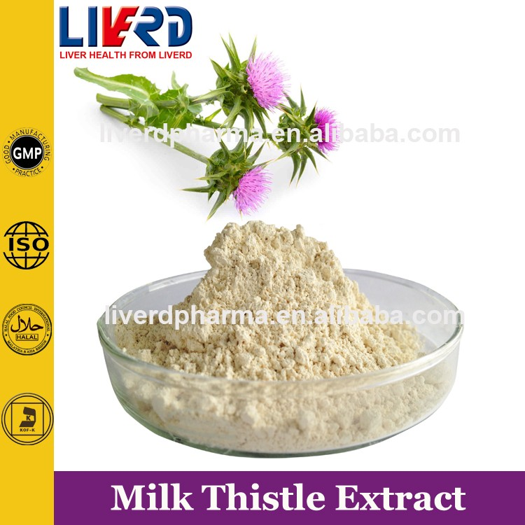 Raw Material for Liver Treatment of Milk Thistle Powder