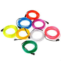 Hot sale colourful el wire for decorate the christmas trees