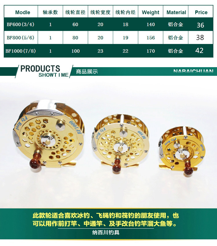 3/4 5/6 7/8 Cheap Price Full Metal fly fishing Tackle reel