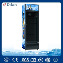 Vertical Display Cooler Commercial Refrigerator and Freezers in Supermarket