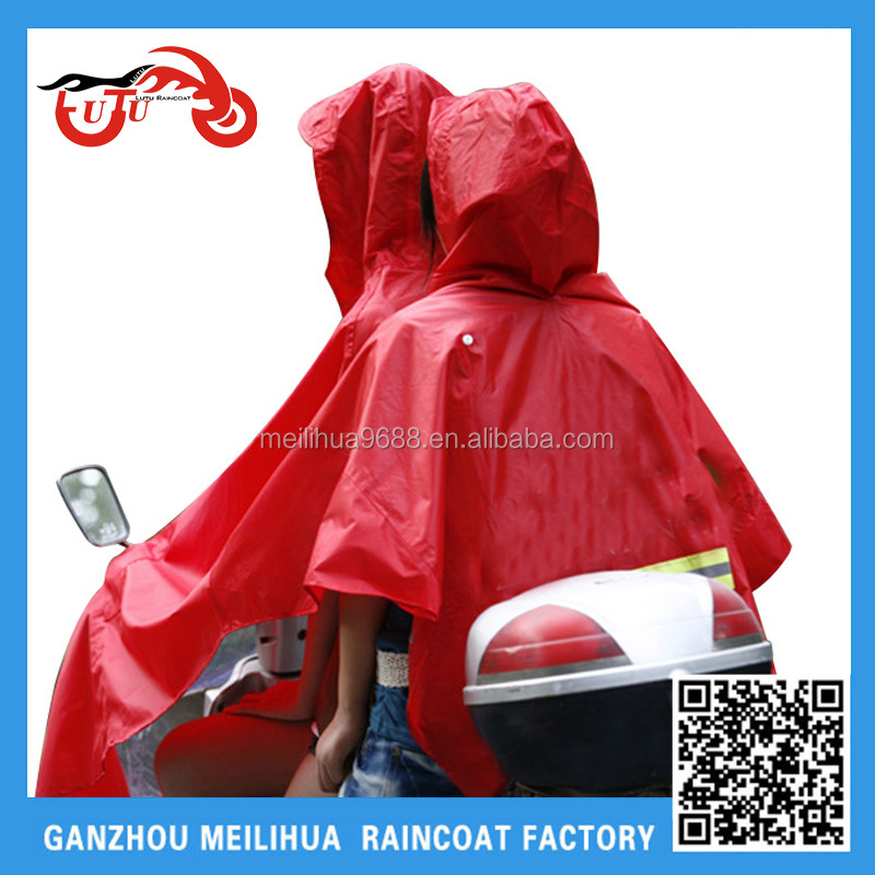 2016 cheap Motorcycles Waterproof Rain Poncho with 300D