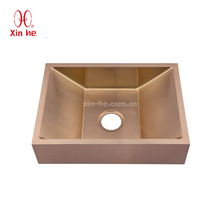 Special Style Stainless Steel SUS 304 Copper color Hand washing sink Customized Basin Bathroom Sinks