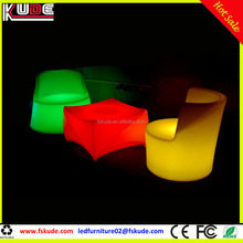 modern light up furniture led night club lounge table and chairs for party