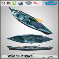 Top quality top rated LLDPE plastic single sit on top fishing boats /canoe/kayak