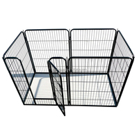 hot sale black heavy duty strong pet play pen manufacturer with eight panels