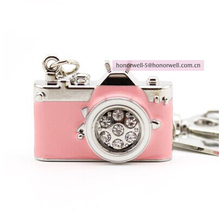Jewelry Camera shaped Usb Flash Drive 1GB 32GB pendirve with key chain with Custom Logo for gift