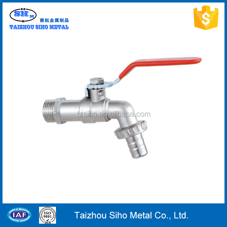 Brass ball valve for water meter swivel nut for PE pipe
